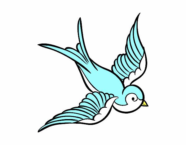 Dibujo de Tatuaje de pájaro pintado por en Dibujos.net el día 23-01 ...