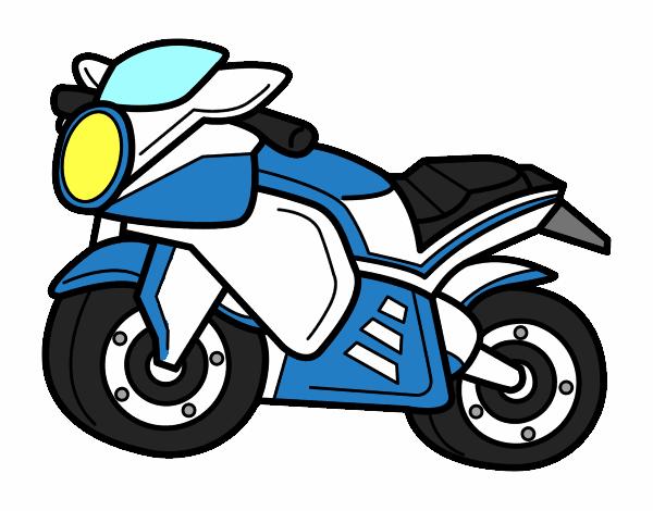 Dibujo De Moto Deportiva Pintado Por En Dibujosnet El Día 07 02 16