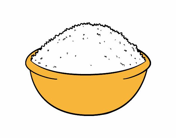 Dibujo de Plato de arroz pintado por en Dibujos.net el día 04-02-16 ...