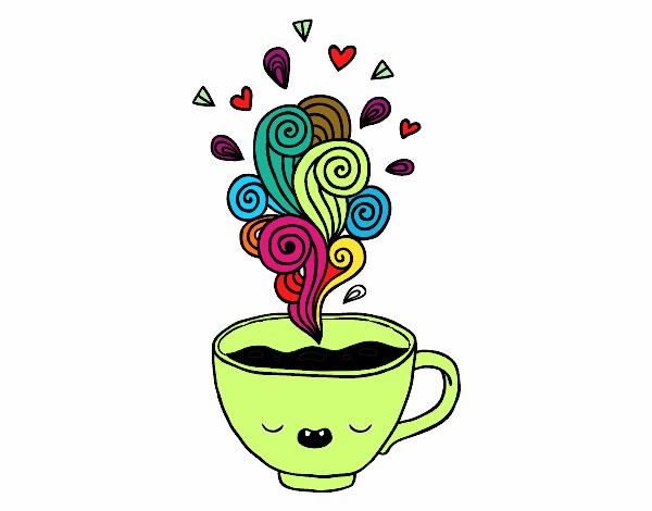 Dibujo De Taza De Café Kawaii Pintado Por En Dibujosnet El