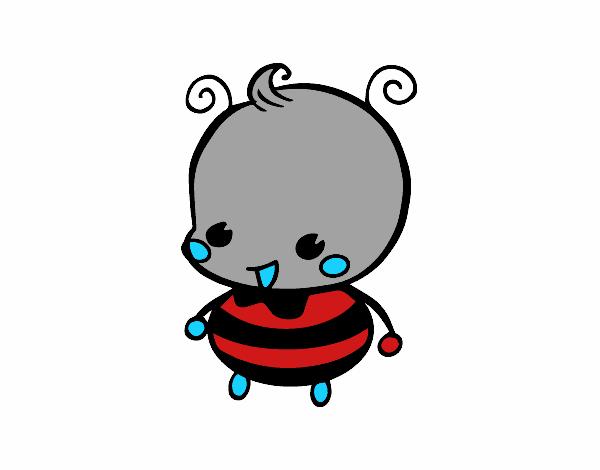 Dibujo de Bebé abeja pintado por en Dibujos.net el día 18-02-16 a ...
