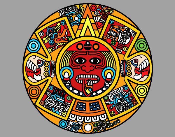 Dibujo De Calendario Azteca Pintado Por En Dibujosnet El Día 23 02