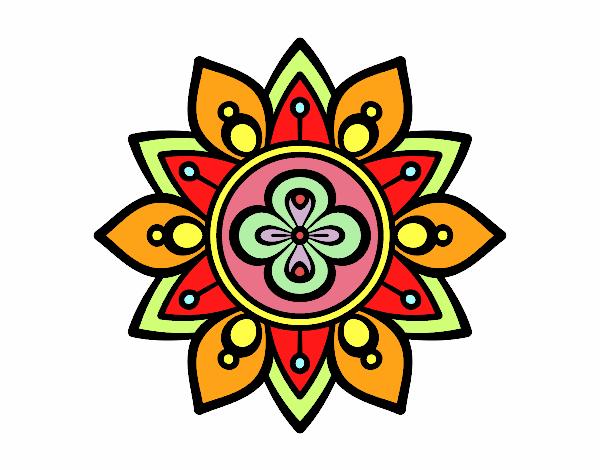 Dibujo De Mandala Flor De Loto Pintado Por Miliani En Dibujosnet El