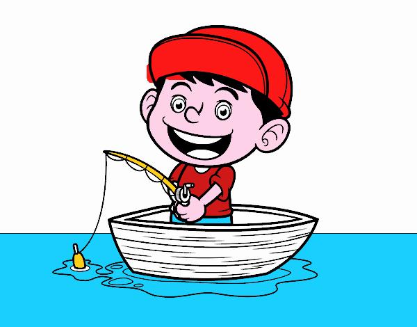 Dibujo de Niño pescando pintado por en Dibujos.net el día 15-03-16 a ...