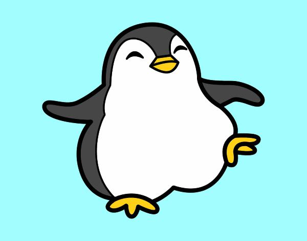 Dibujo De Pingüino Kawaii Pintado Por Cata Kawai En Dibujos Net El