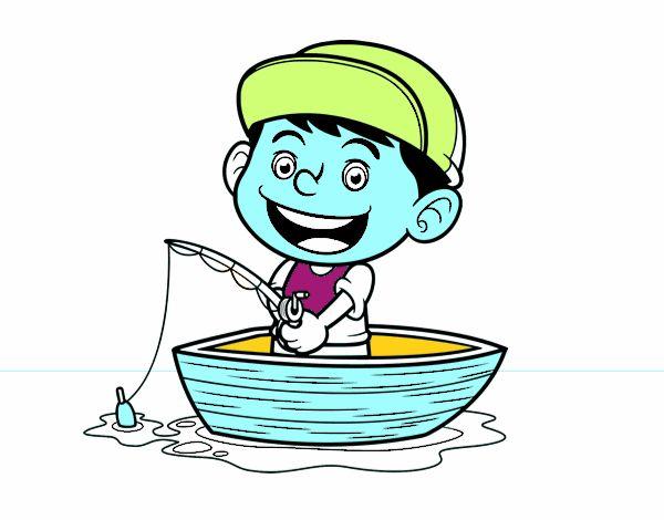Dibujo de Niño pescando pintado por en Dibujos.net el día 21-03-16 a ...