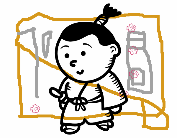 Dibujo de Samurái niño pintado por en Dibujos.net el día 27-03-16 a ...