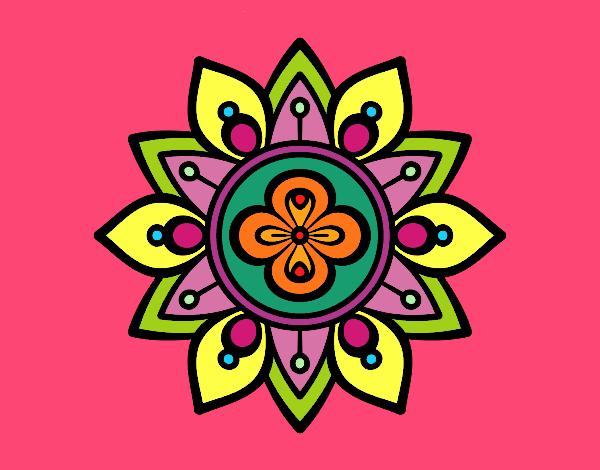 Dibujo De Mandala Flor De Loto Pintado Por En Dibujosnet El Día 31