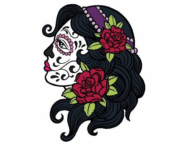 Dibujo De La Catrina Pintado Por Reah En Dibujosnet El Día 02 04 16