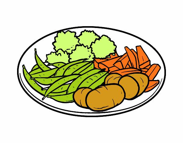 Dibujo De Plato De Verduras Pintado Por En Dibujosnet El