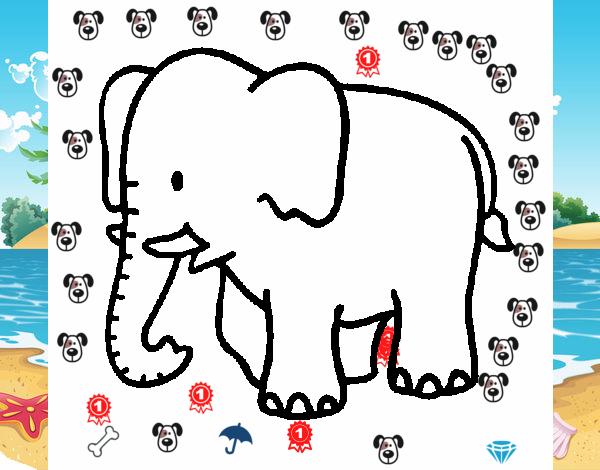 Dibujo de Elefante bebe pintado por en Dibujos.net el día 14-04-16 a ...
