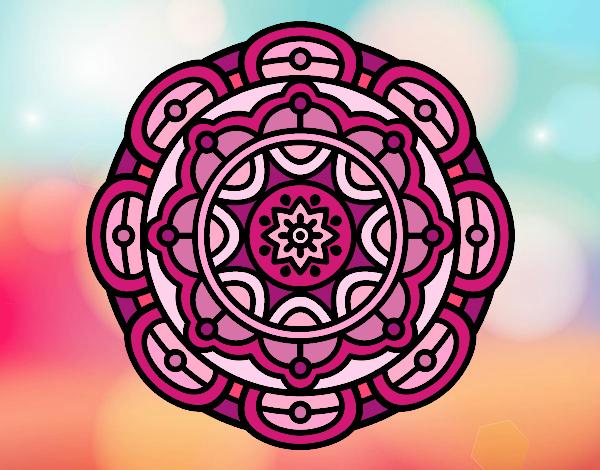 Dibujos De Mandalas Para Colorear Relajarse Y Meditar: Dibujo De Mandala Para La Relajación Mental Pintado Por