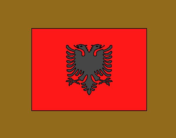 Dibujo de Albania pintado por Alvaretej en Dibujos.net el día 24-04 ...