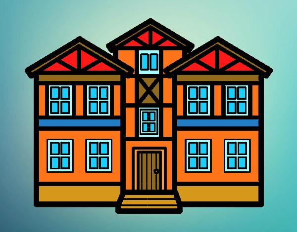 Dibujo De La Casa Hermosa Pintado Por En Dibujosnet El Día 01 05 16