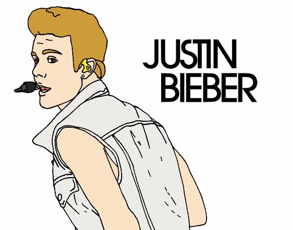 Dibujo de Justin Bieber cantando pintado por en Dibujos.net el día ...