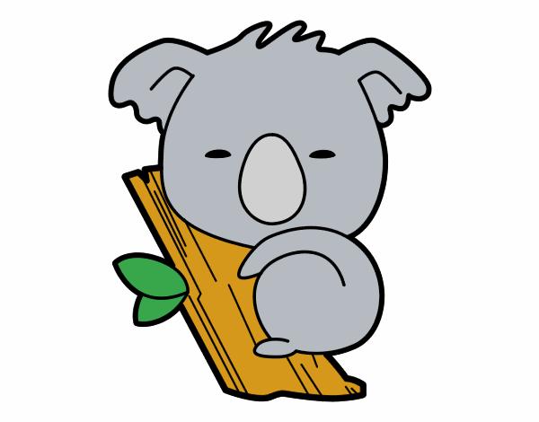Dibujo de Koala bebé pintado por en Dibujos.net el día 27-04-16 a ...