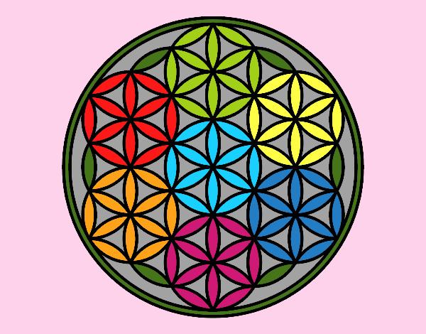 Dibujo De Mandala Flor De Vida Pintado Por En Dibujosnet El Día 27