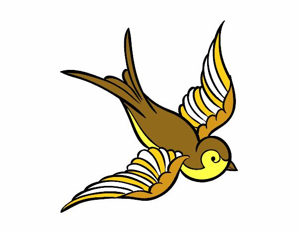 Dibujo de el pajaro de color amarillo pintado por en Dibujos.net el ...
