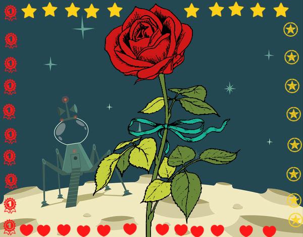 Dibujo De Rosa De El Principito Pintado Por En Dibujosnet