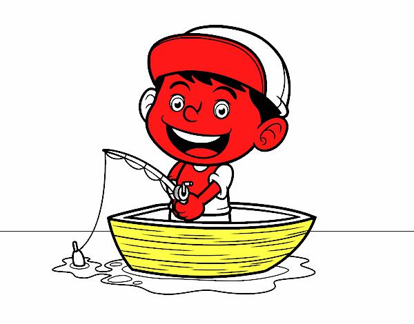 Dibujo de Niño pescando pintado por en Dibujos.net el día 04-05-16 a ...