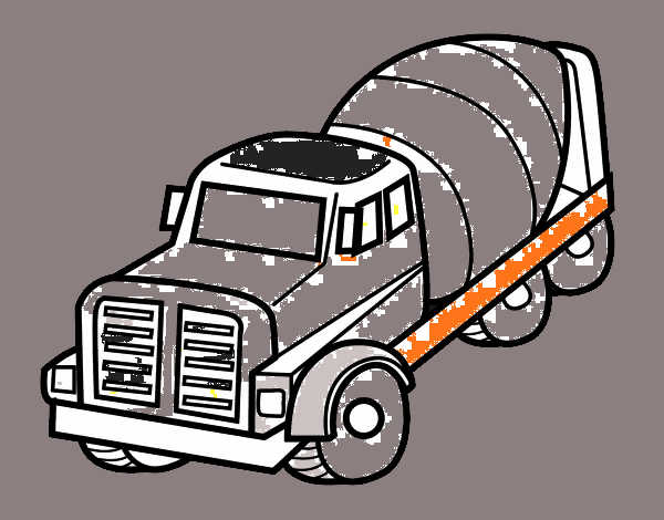 Dibujo De Camión Hormigonera Pintado Por En Dibujosnet El Día 13 05