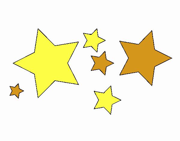 Dibujo de 6 estrellas pintado por en Dibujos.net el día 22 ...