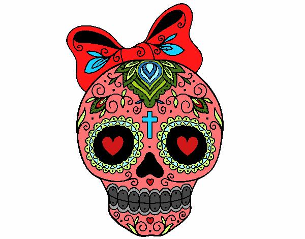 Dibujo De La Calavera Mexicana Pintado Por En Dibujosnet El Día 20
