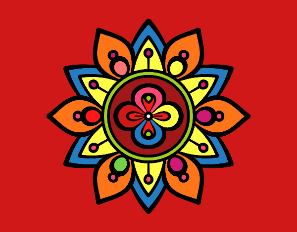 Dibujo De Mandala Flor De Loto Pintado Por Marga2016 En Dibujos Net