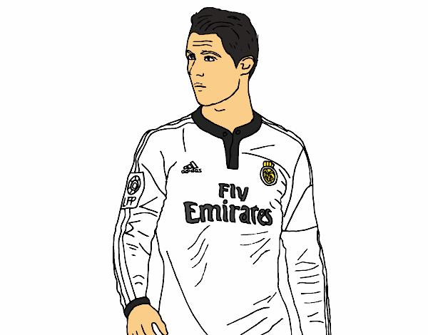 Dibujo De Cristiano Ronaldo Pintado Por En Dibujosnet El Día 11 06