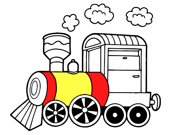Dibujo de Locomotora de vapor pintado por en Dibujos.net el día 20 ...