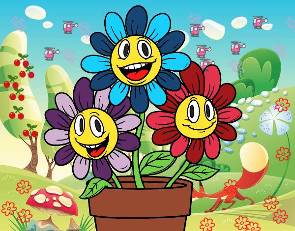 Dibujo De Las Flores Chidas Pintado Por En Dibujosnet El Día 23 06