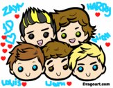 Dibujo One Direction 2 pintado por BFFLOVE