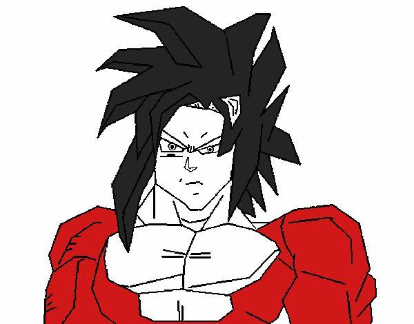 Lujo Imagenes Para Colorear De Goku Fase 4: Dibujo De Goku Fase 4 El Poder Esta En Ti Pintado Por En