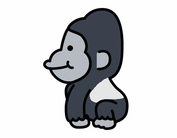 Dibujo de Gorila bebé pintado por en Dibujos.net el día 20-07-16 a ...