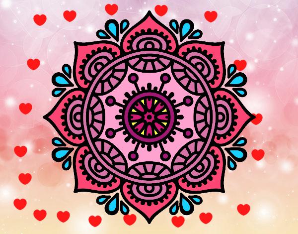 Dibujo de Mandala para relajarse pintado por Nido en Dibujos.