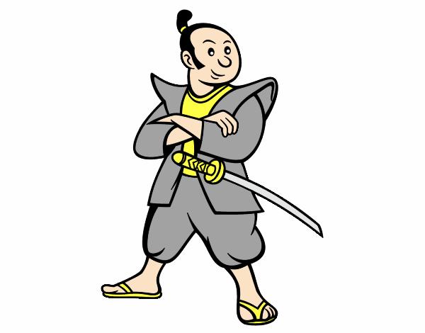 Dibujo de Samurái adulto pintado por en Dibujos.net el día 17-08-16 ...