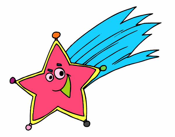 Dibujo De Estrella Fugaz Pintado Por En Dibujos Net El Dia 24 08 16