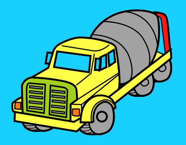 Dibujo De Camión Hormigonera Pintado Por En Dibujosnet El Día 30 08