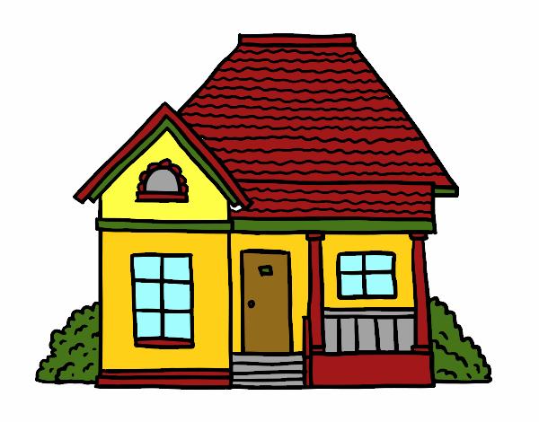 Dibujo de mi casa so ada pintado por en el d a for Mi casa com