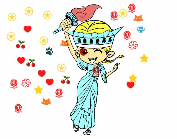 Dibujo de Estatua de la libertad manga pintado por en Dibujos.net el ...