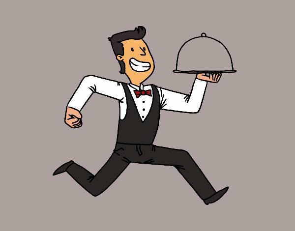 Resultado de imagen de dibujo camarero