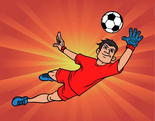 Dibujo De Futbol Arquero Pintado Por En Dibujosnet El Día 08 10 16