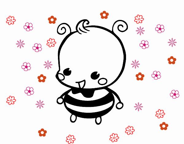 Dibujo de Bebé abeja pintado por en Dibujos.net el día 24-10-16 a ...