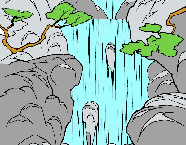 Dibujo De Cascada Pintado Por En Dibujosnet El Día 30 10 16