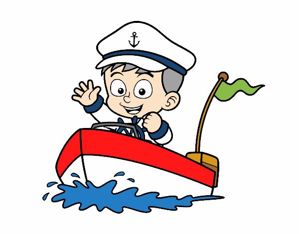 Dibujo De Barco Y Capitán Pintado Por En Dibujos.net El