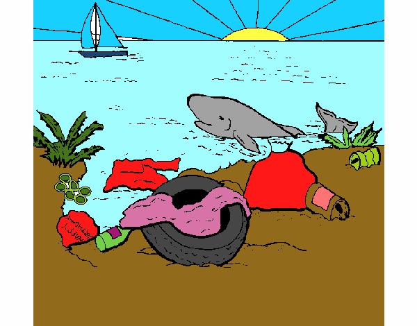 Dibujo De El Mar Contaminado Pintado Por En Dibujosnet El Día 02 11