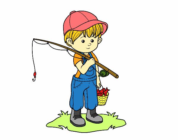 Dibujos Para Colorear Un Pescador: Dibujo De Niño Pescador Pintado Por Dandanhooo En Dibujos