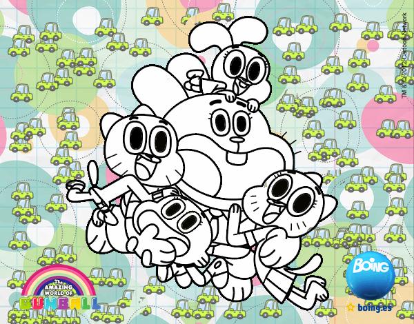 Dibujo De El Increible Mundo De Gumball Pintado Por En Dibujosnet