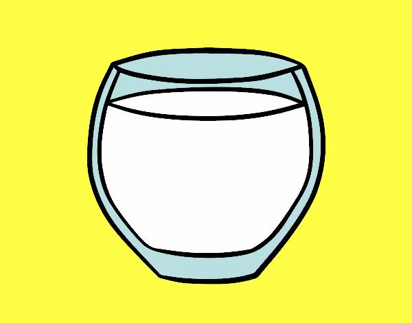 Dibujo De Un Vaso Con Leche Pintado Por En Dibujosnet El