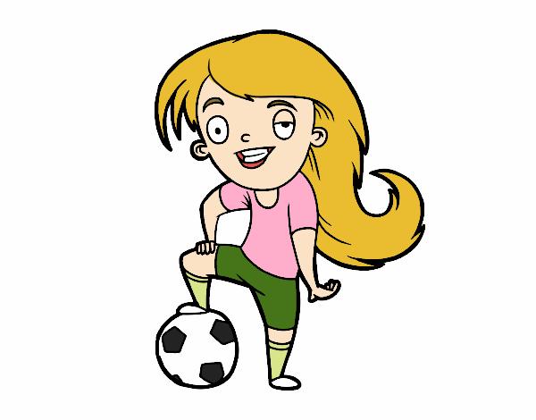 Dibujo De Fútbol Femenino Pintado Por En Dibujosnet El Día 26 02 17